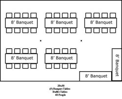 20 X 40 Tent Layouts  sc 1 st  The Party Providers & The Party Providers | Tent Rentals and More | Serving New Jersey