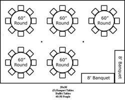 20 X 40 Tent Layouts